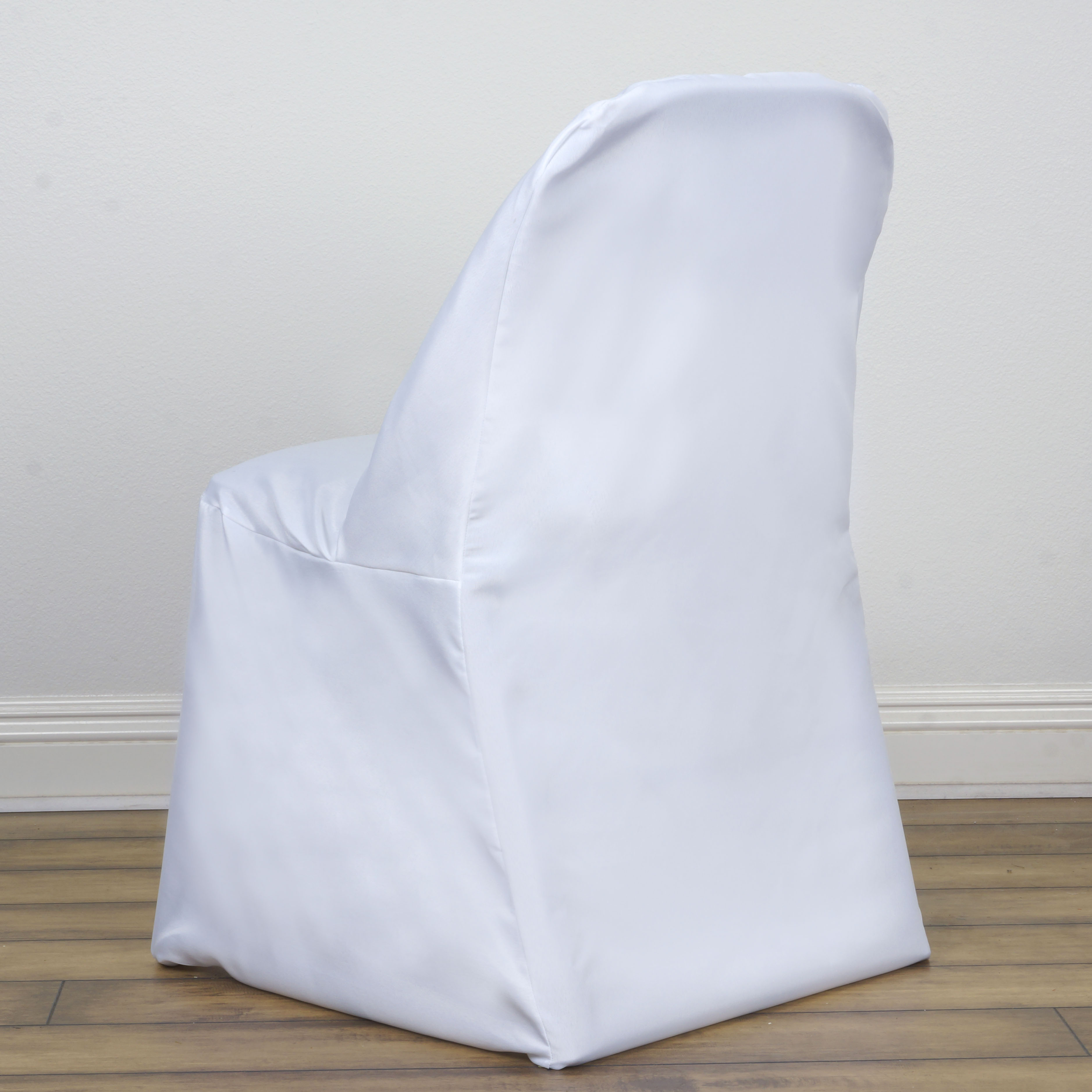 1 FOLDING Round Polyester Fabric CHAIR COVERS Wedding