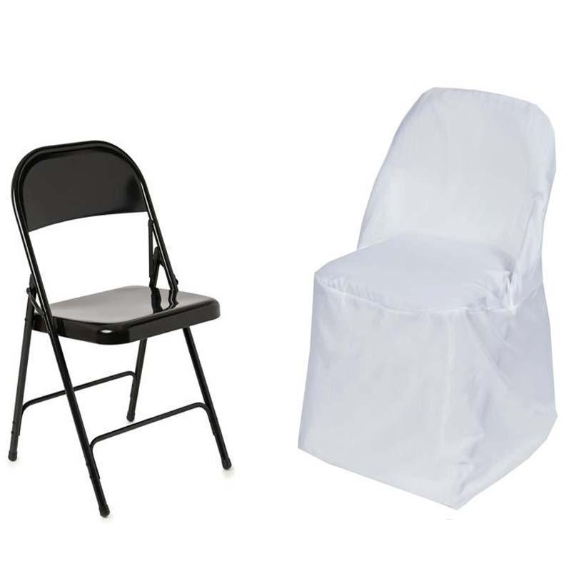 wholesale folding chair covers for sale lightweight travel beach chairs 50 round polyester fabric wedding party