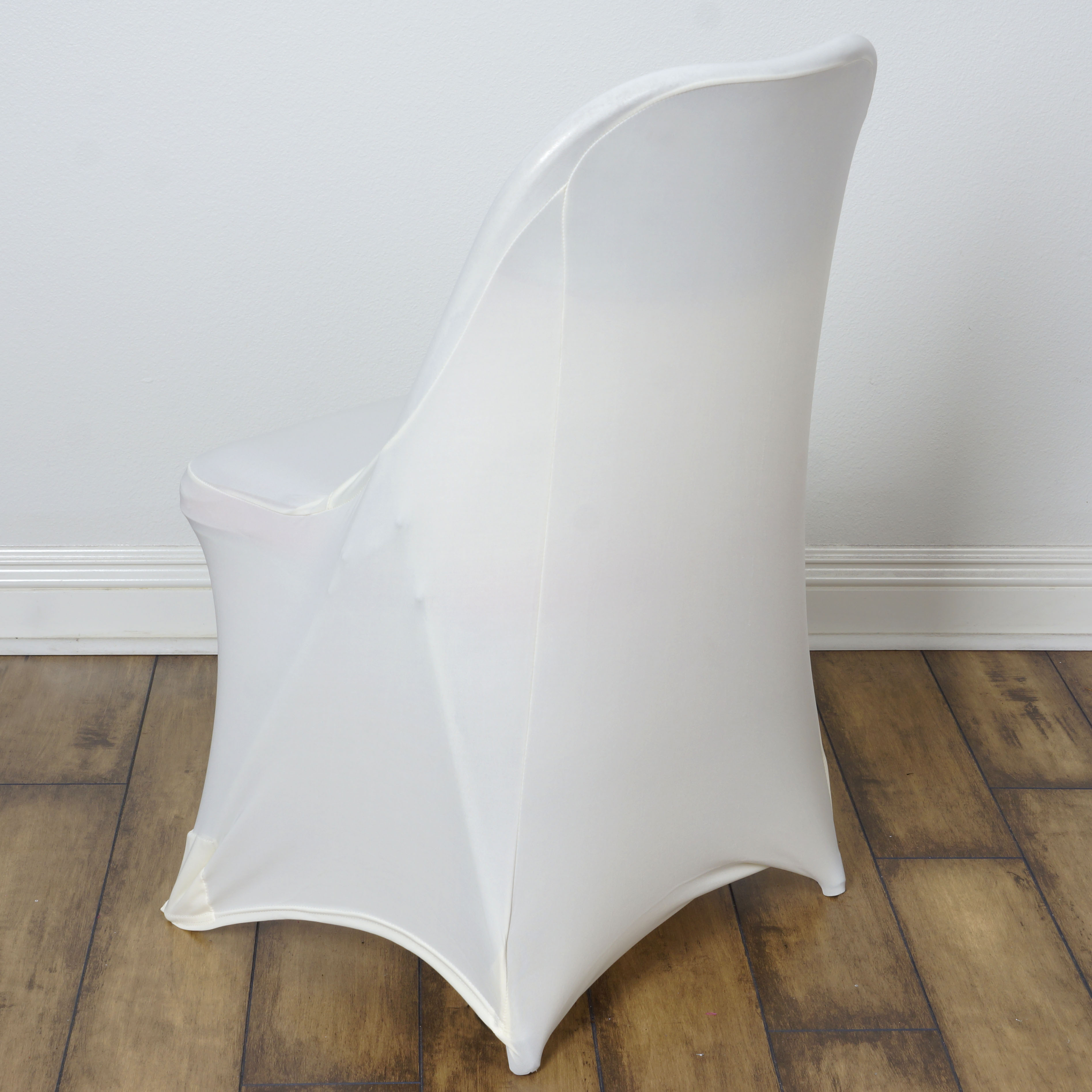 cotton wedding chair covers to buy chicco high that attaches table 50 pcs spandex fitted folding for