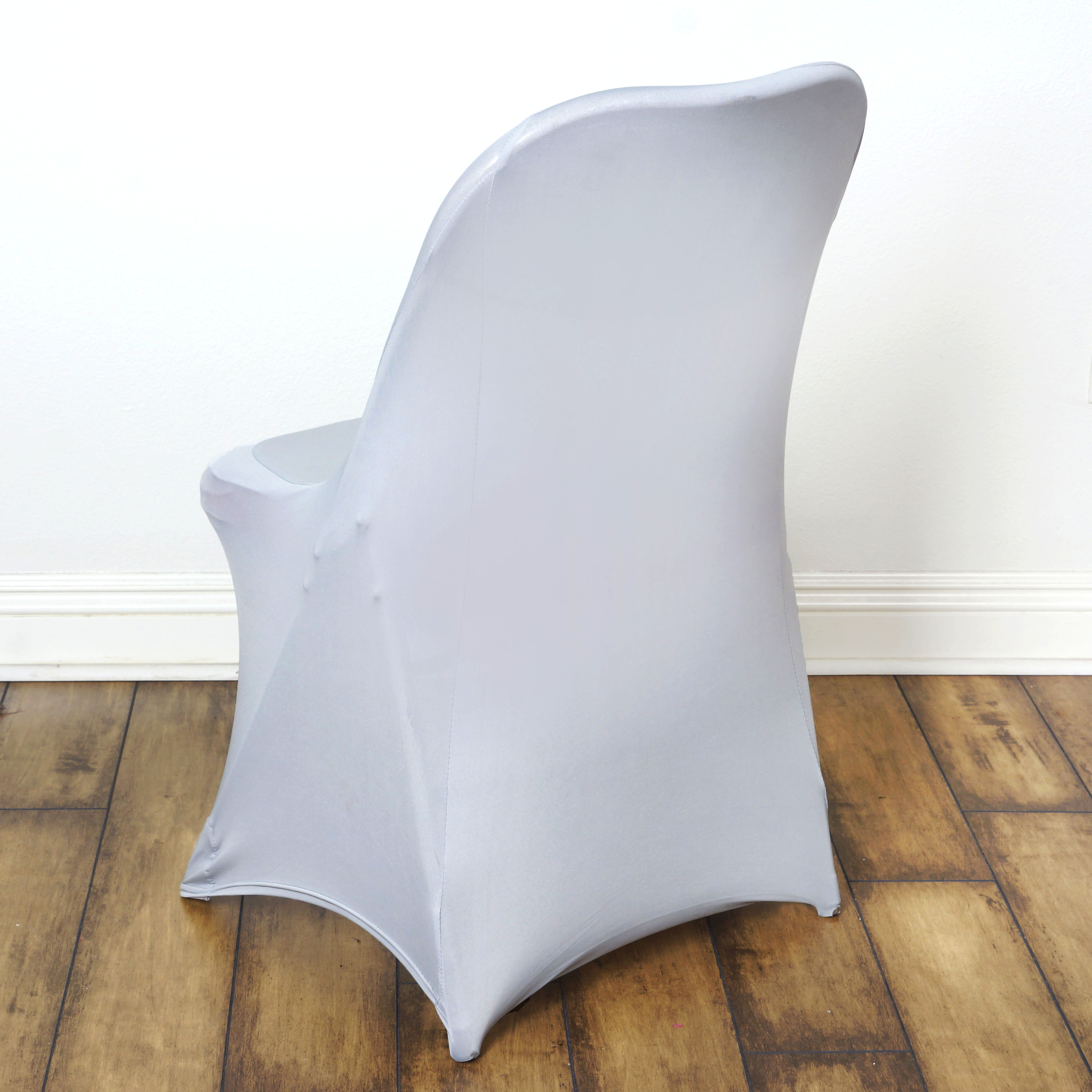 lifetime chair covers ivory leather cushions indoor 50 pcs spandex fitted folding for wedding