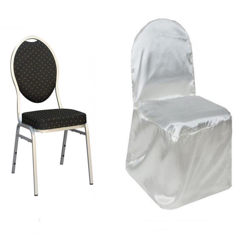 cheap chair covers for party wicker fan satin banquet wedding reception