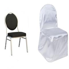 Cheap Rental Chair Covers Behind The 2018 Satin Banquet Wedding Reception Party