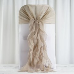 Ruffle Chair Sashes Jazzy Power Flashing Lights 100 Pcs Covers With Curly Chiffon Ruffled For