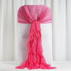 Ruffle Chair Sashes Childrens Table Chairs 2 100 Pcs Covers With Curly Chiffon Ruffled For