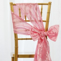 Chair Covers With Pink Bows Discount Pub Table Chairs 200 Pcs Pintuck Sashes Ties Wholesale