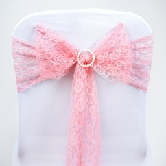 Scuba Chair Covers Wholesale Gmc Yukon Captains Chairs 50 Wedding Lace Sashes Bows Ties Party Reception