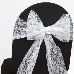 Scuba Chair Covers Wholesale For Metal Folding Chairs 50 Wedding Lace Sashes Bows Ties Party Reception