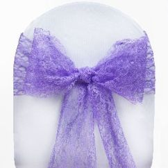 Scuba Chair Covers Wholesale Swing Ride Southbank 50 Wedding Lace Sashes Bows Ties Party Reception
