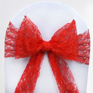 scuba chair covers wholesale parsons chairs slipcovers 50 wedding lace sashes bows ties party reception
