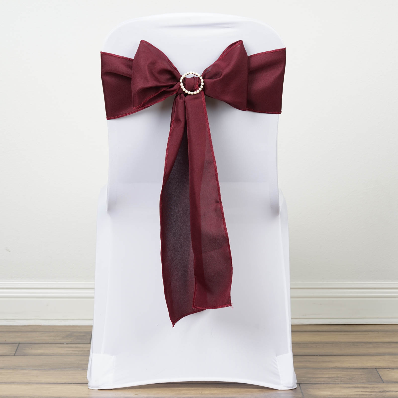 100 Polyester CHAIR SASHES Bows Ties Wedding Party
