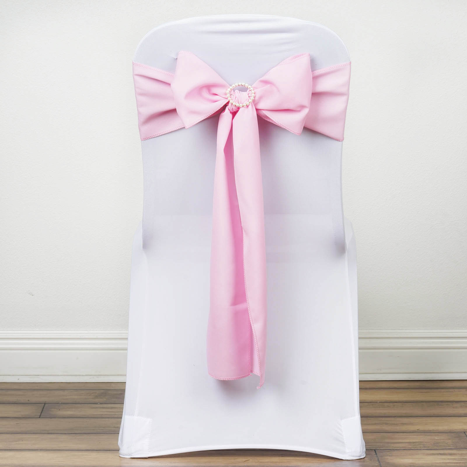 chair covers with pink bows poang australia 100 polyester sashes ties wedding party