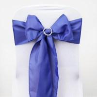 100 Polyester CHAIR SASHES Bows Ties Wedding Party ...