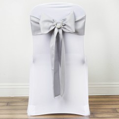 Wedding Chair Covers With Bows Graco Baby High 100 Polyester Sashes Ties Party