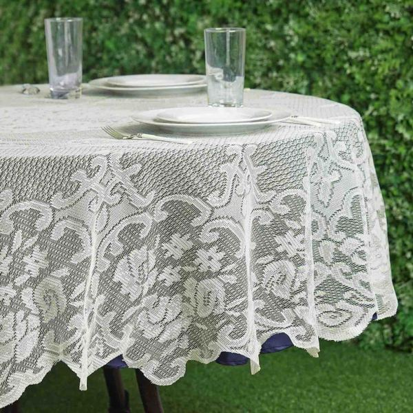 "70"" Floral Lace Tablecloth Wedding Party Table"