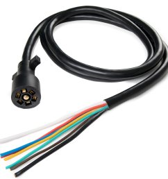 details about 7 way trailer connector plug 7 5ft cord 7 pin wiring harness for truck camper rv [ 1500 x 1500 Pixel ]