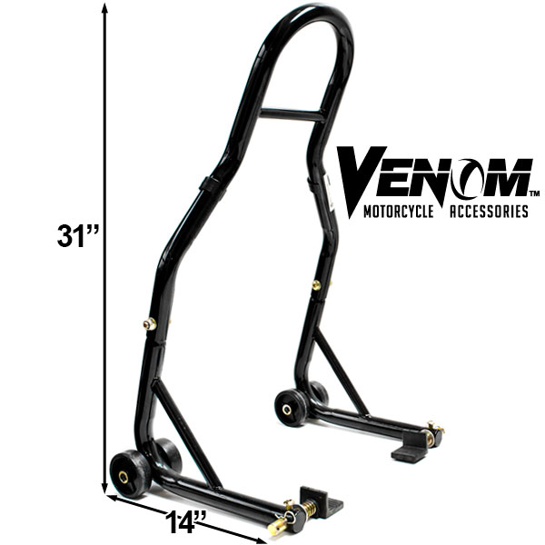 MOTORCYCLE FRONT + REAR SWINGARM PADDLE LIFT STANDS For