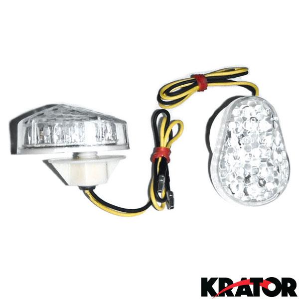 Flush Mount Turn Signals Amber Light For Kawasaki ZZR600