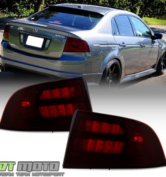 details about red smoke 2004 2005 2006 2007 2008 acura tl type s tail lights lamps aftermarket [ 1000 x 1000 Pixel ]