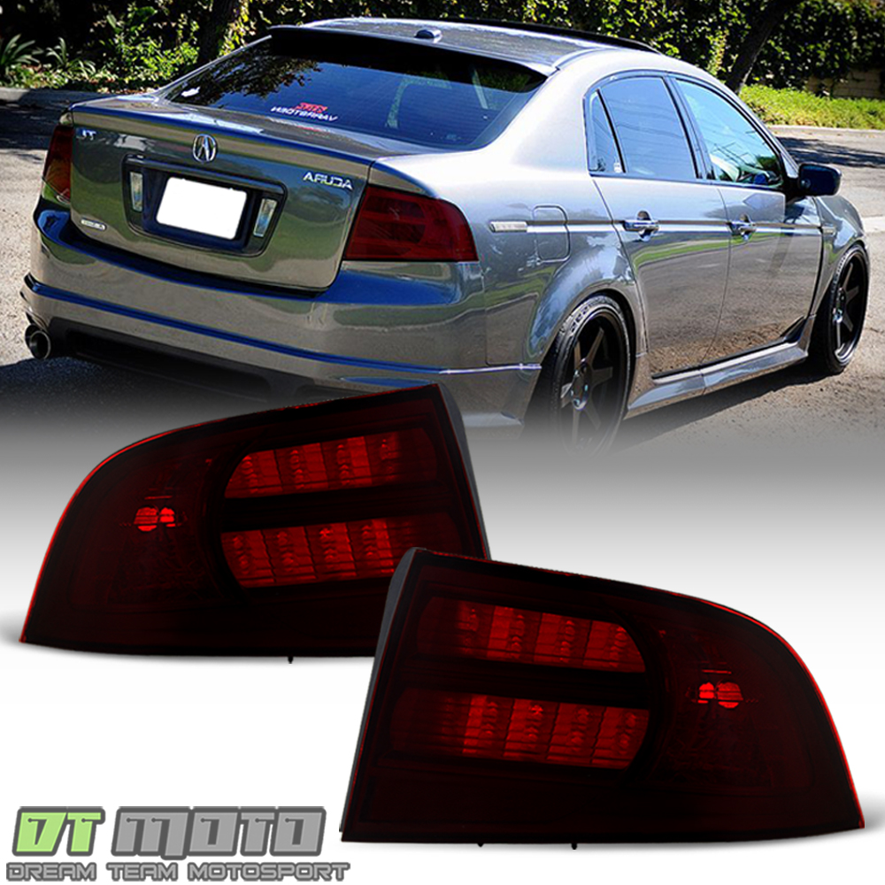 hight resolution of details about red smoke 2004 2005 2006 2007 2008 acura tl type s tail lights lamps aftermarket