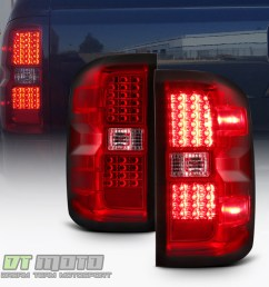 details about red 2014 2015 2016 2017 chevy silverado 1500 led tail lights 14 17 brake lamps [ 1000 x 1000 Pixel ]