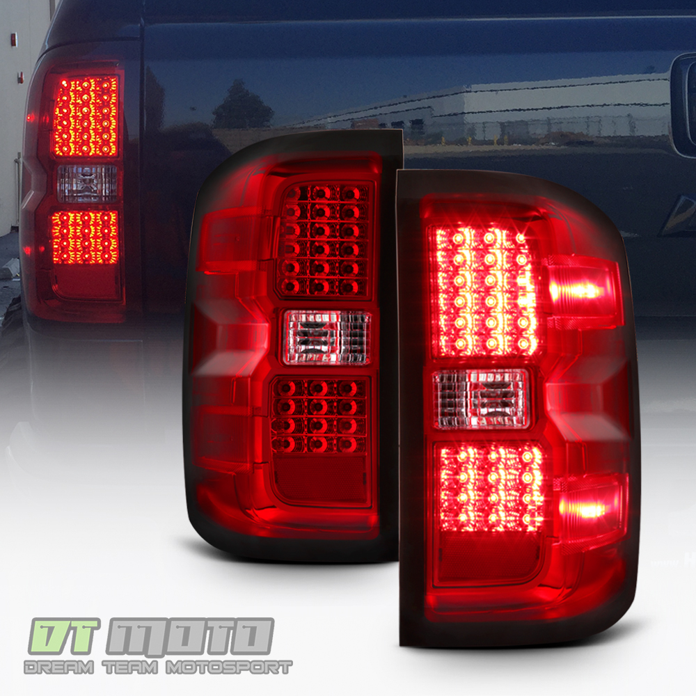 hight resolution of details about red 2014 2015 2016 2017 chevy silverado 1500 led tail lights 14 17 brake lamps