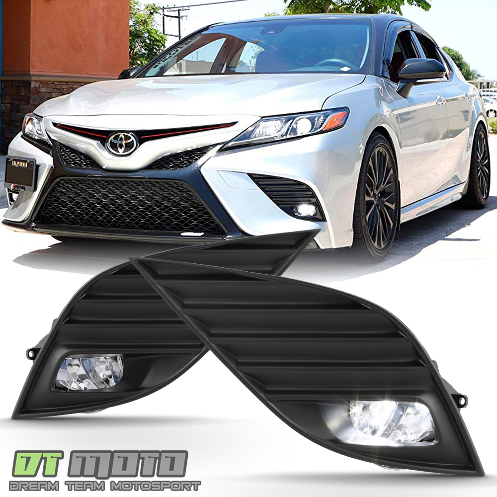 medium resolution of details about for 2018 2019 toyota camry hybrid se xse led bumper fog lights lamps w switch
