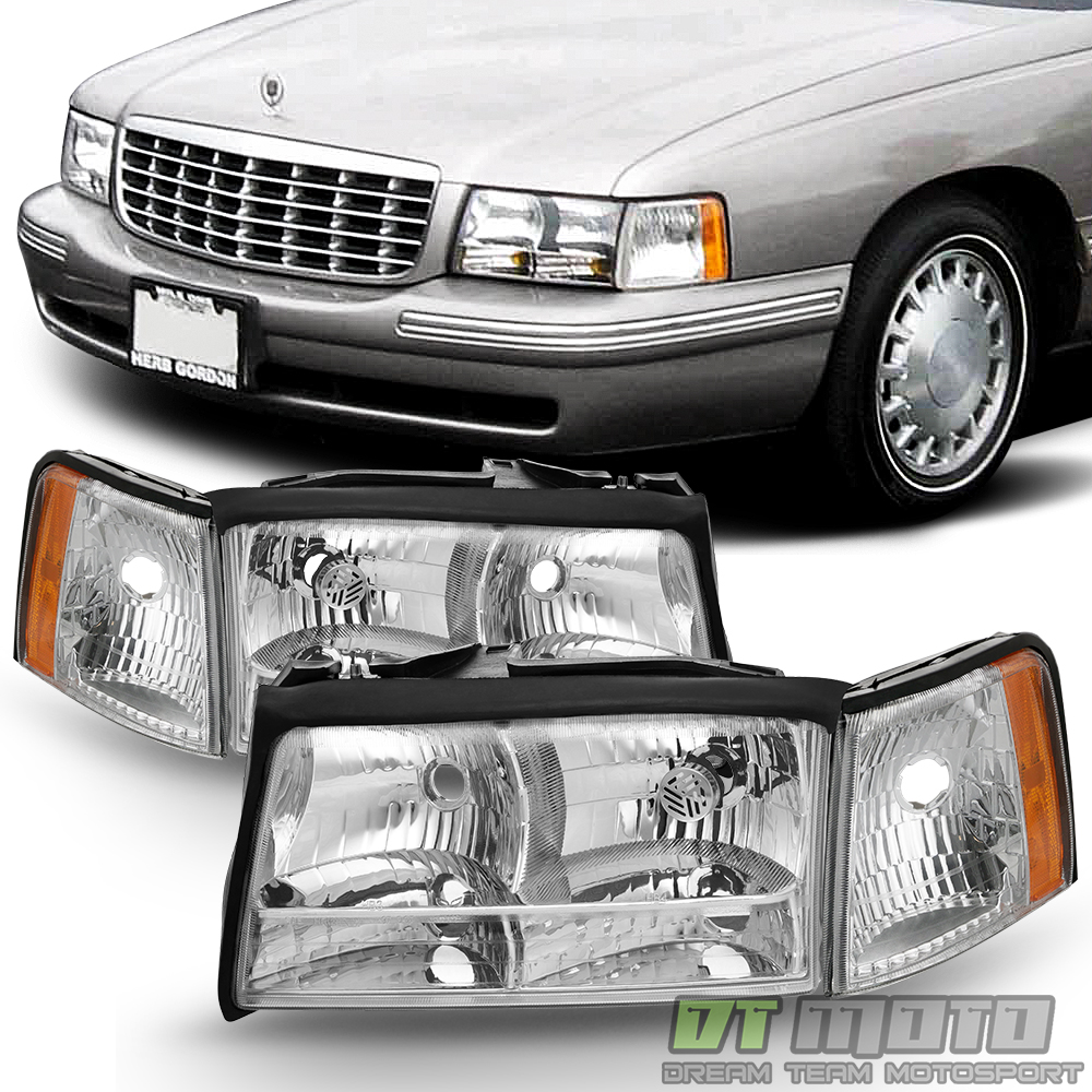 hight resolution of details about replacement 1997 1998 1999 cadillac deville headlights headlamps w corner lights