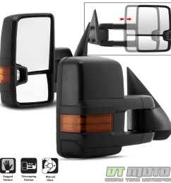details about pair 2 g2 1999 2006 chevy silverado sierra telescoping manual tow side mirrors [ 1000 x 1000 Pixel ]