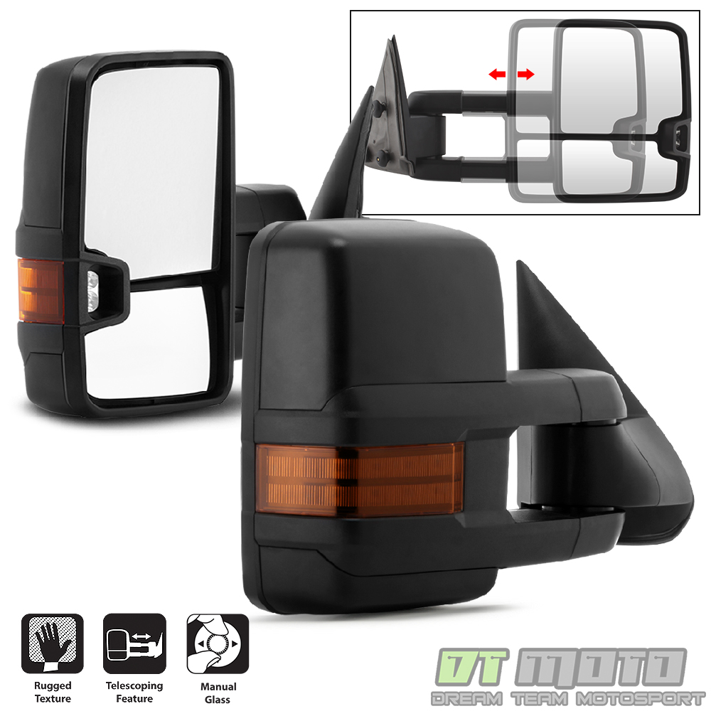 medium resolution of details about pair 2 g2 1999 2006 chevy silverado sierra telescoping manual tow side mirrors