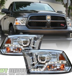 details about mono eye 2009 2018 dodge ram 1500 2500 3500 led drl halo projector headlights [ 1000 x 1000 Pixel ]
