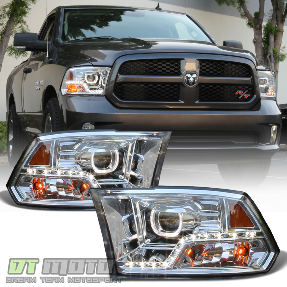 hight resolution of details about mono eye 2009 2018 dodge ram 1500 2500 3500 led drl halo projector headlights