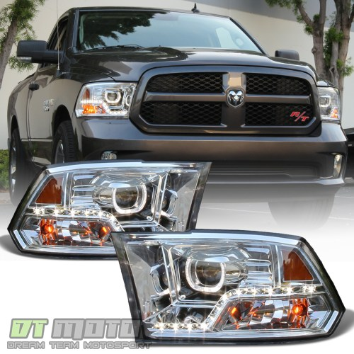 small resolution of details about mono eye 2009 2018 dodge ram 1500 2500 3500 led drl halo projector headlights