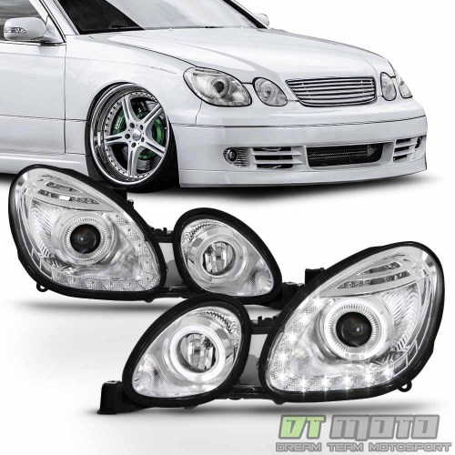small resolution of for 1998 2005 lexus gs300 gs400 gs430 led halo drl projector headlights headlamp