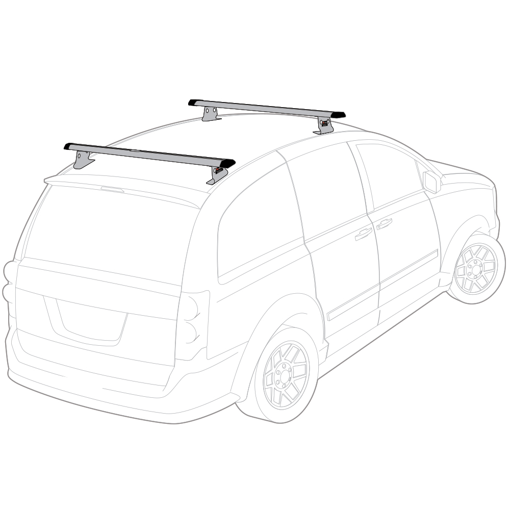 Silver Universal fitment, J1000 Ladder roof van rack