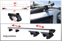 "JDM 55"" inch Aluminum LUGGAGE CARGO RAIL RACK ROOF TOP ..."
