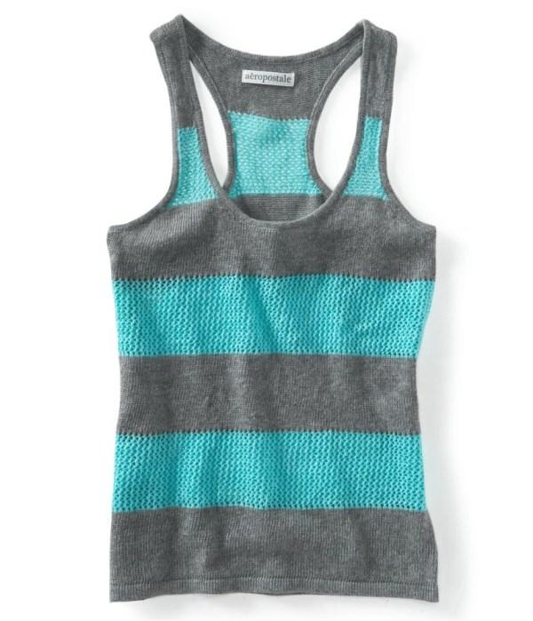 Striped Sweater Tank Top