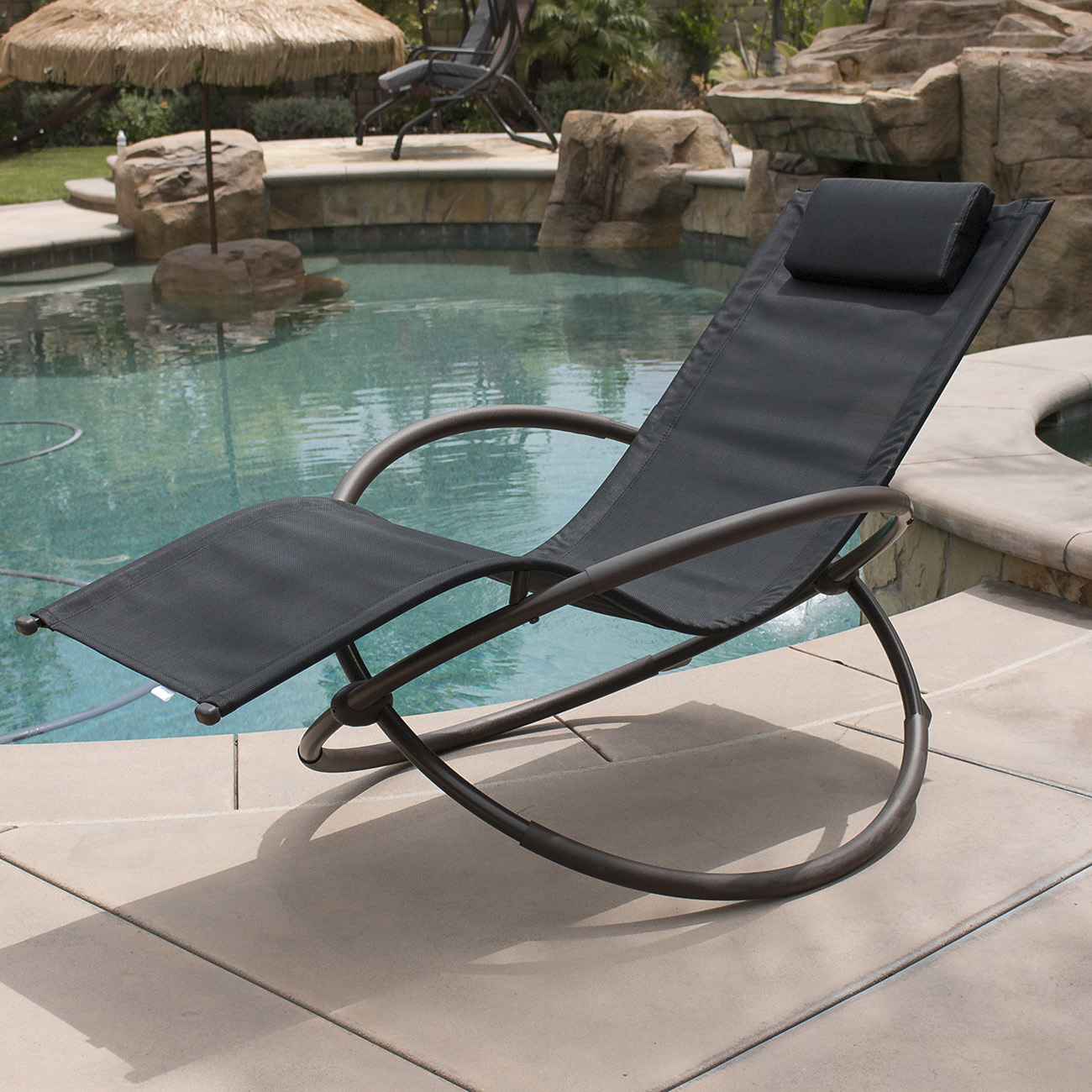 zero gravity pool chairs rustic wooden uk 7 color orbital anti lounge chair beach