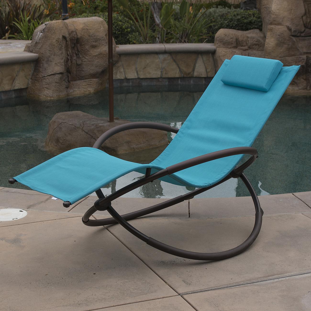 7 Color Orbital Zero Anti Gravity Lounge Chair Beach Pool