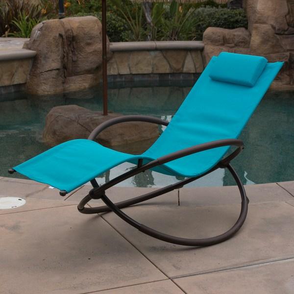 7 Color Orbital Anti Gravity Lounge Chair Beach Pool Patio Outdoor Foldable