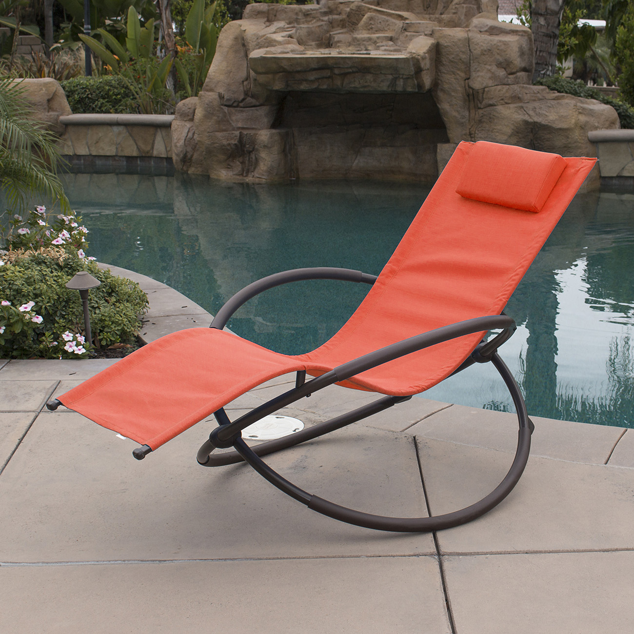 Camping Lounge Chair Orbital Foldable Zero Gravity Lounger Chair Rocking