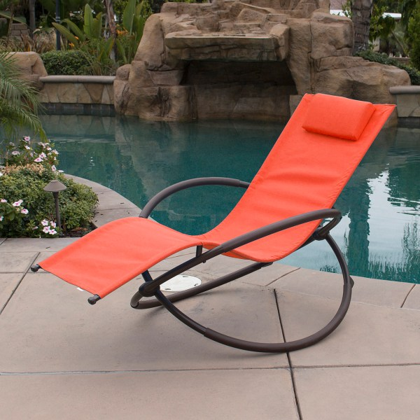 Orbital Foldable Gravity Lounger Chair Rocking Furniture Outdoor Chaise