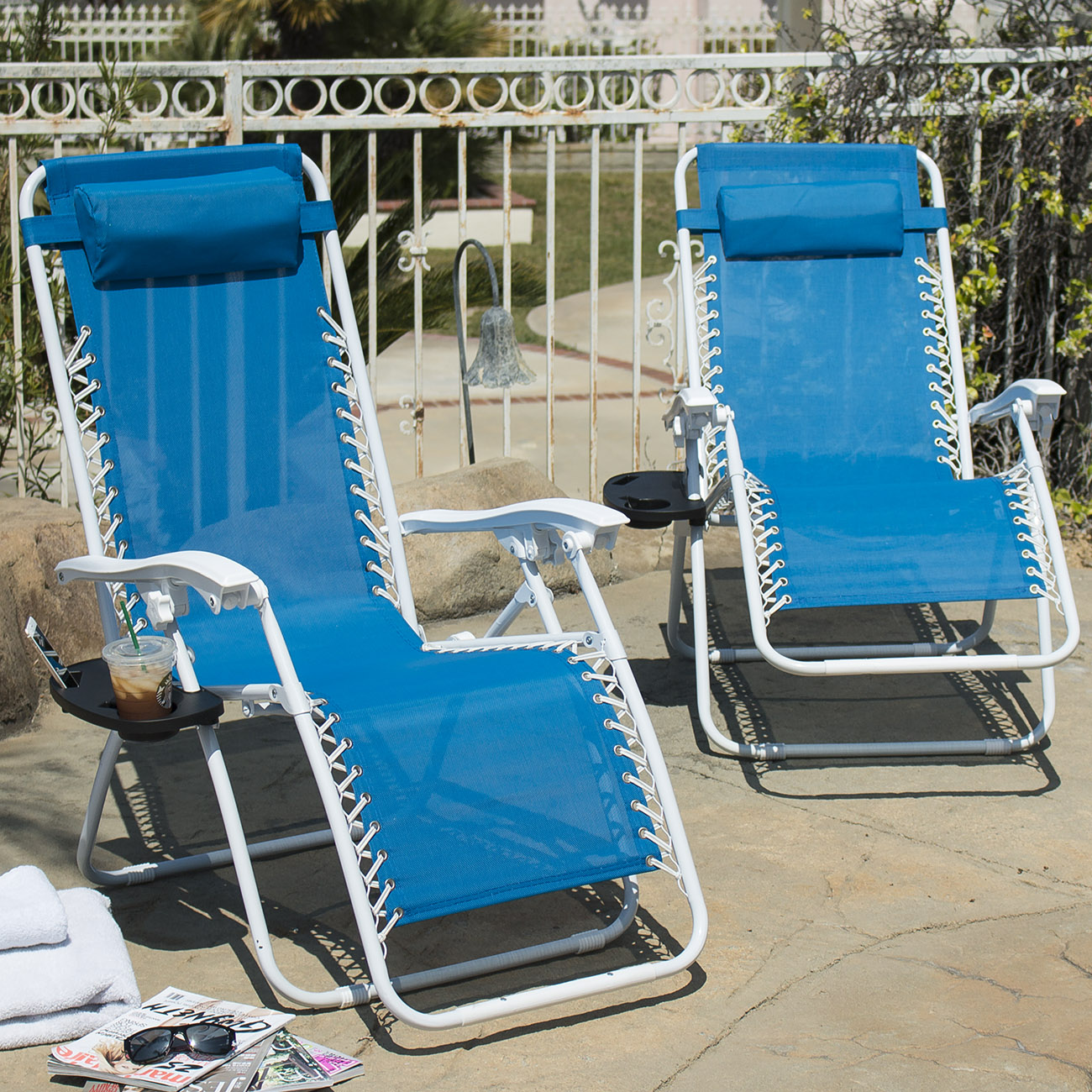zero gravity reclining outdoor lounge chair 2 pack ergonomic leather office folding chairs 43utility