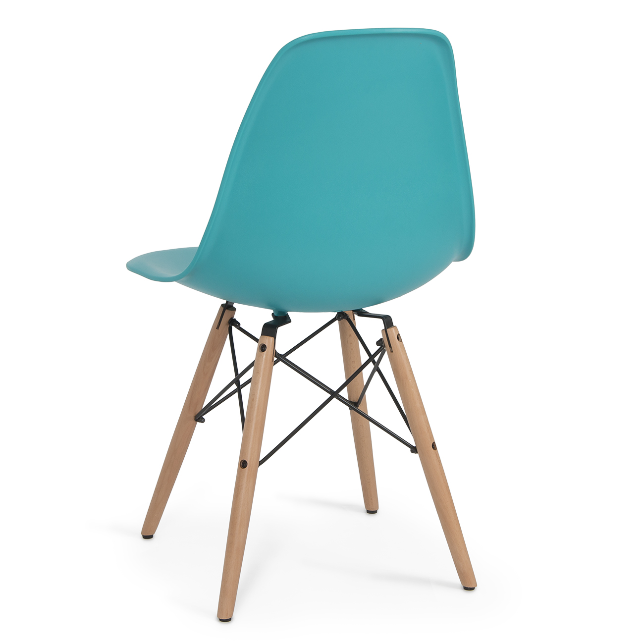 eames dining chair classic balance ball style dsw wood base mid century modern shell
