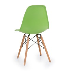 Eiffel Chair Wood Legs Wedding Cover Hire Dundee Set Of 4 Dsw Dowel Eames Molded Abs Natural Wooden