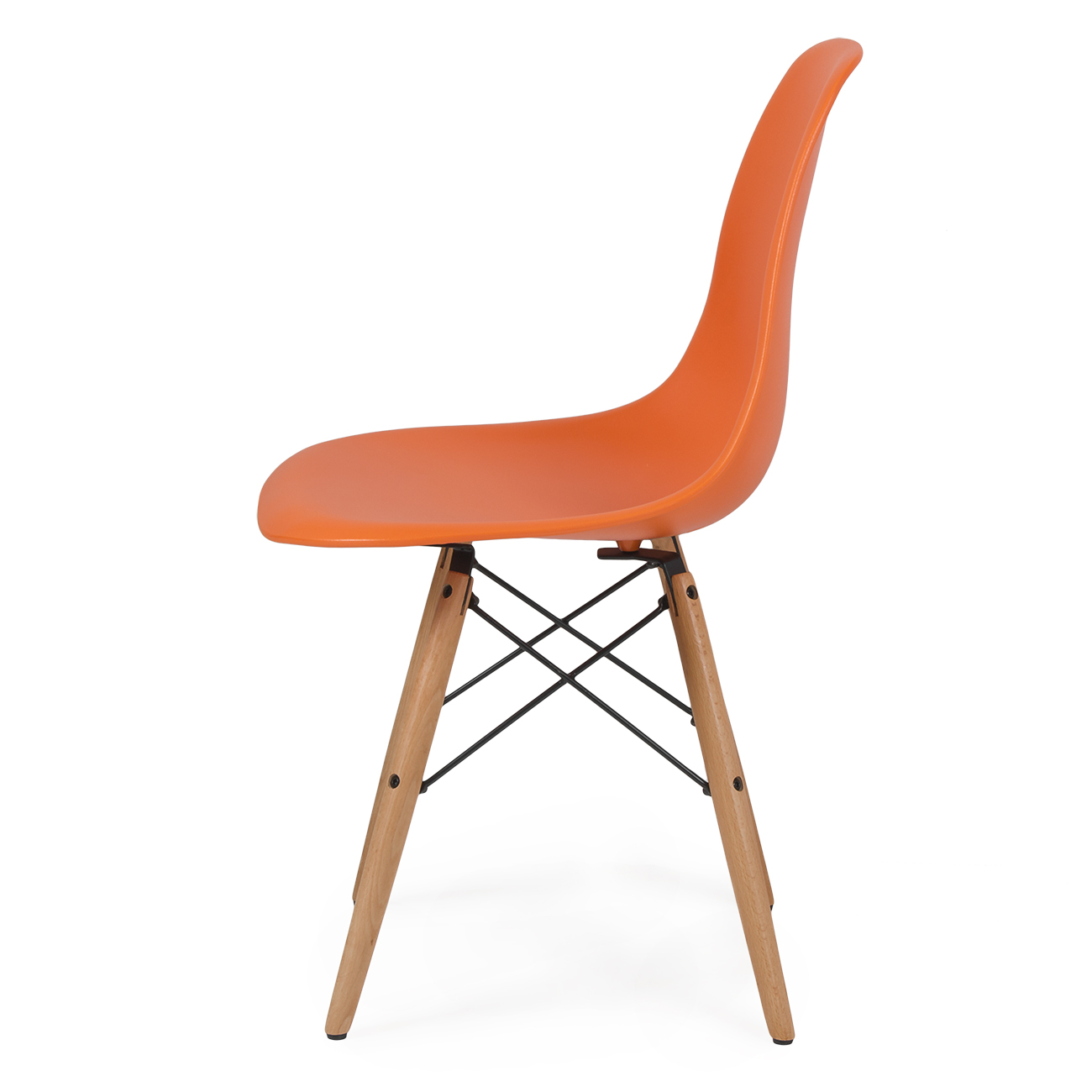 eiffel chair wood legs ergonomic executive set of 4 dsw dowel eames molded abs natural wooden