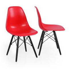 Eames Molded Wood Side Chair U Shaped Cushions 2x Modern Style Dsw Dining Stylish