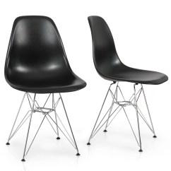 Eames Style Plastic Chair Cover Hire Cornwall 2x Dsw Modern Eiffel Side Molded Abs