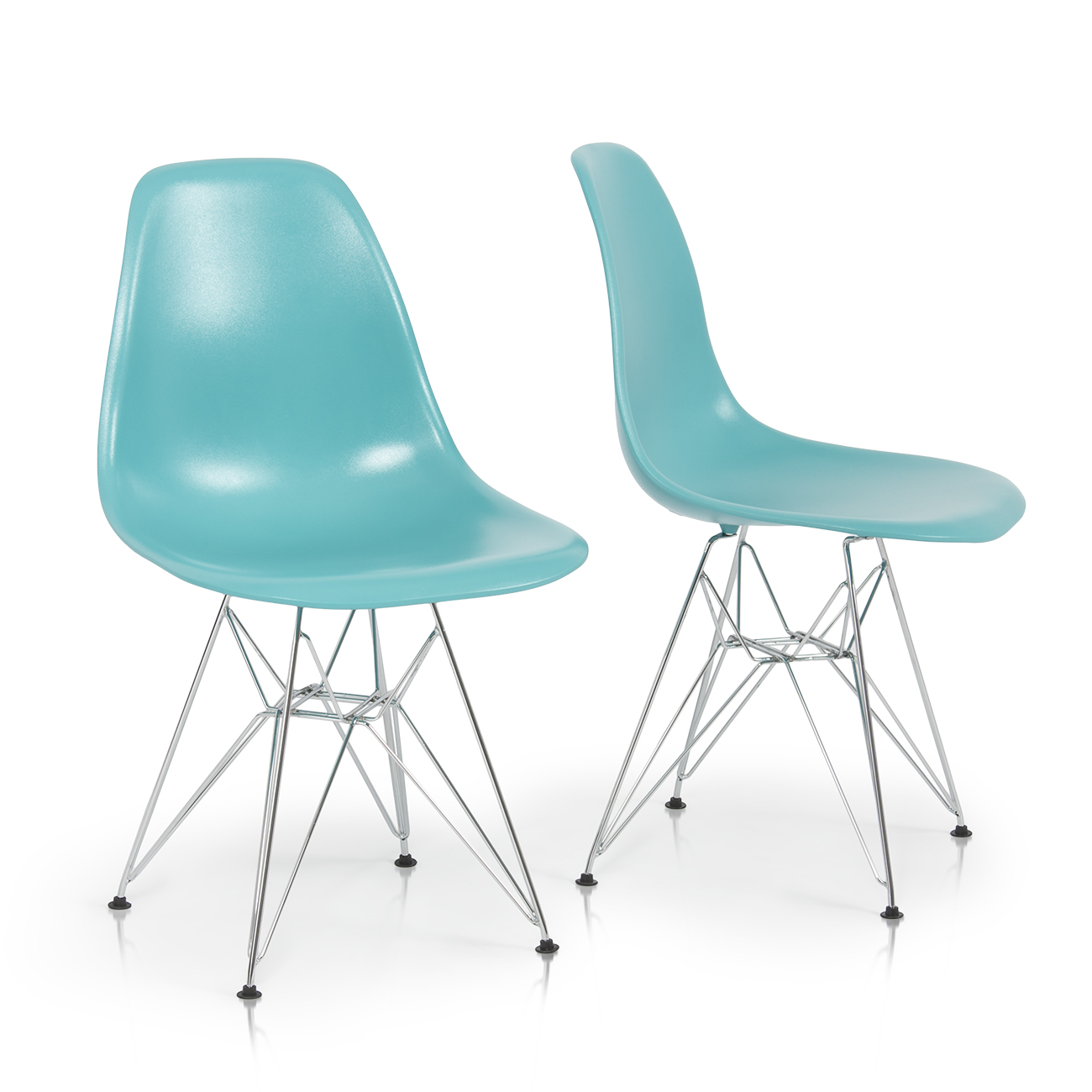 Plastic Dining Chairs 2x Eames Style Dsw Modern Eiffel Side Chair Molded Abs