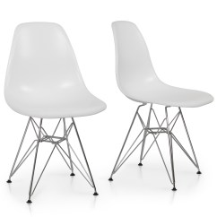 Eames Style Plastic Chair Kids Table And Chairs Clearance 2x Dsw Modern Eiffel Side Molded Abs