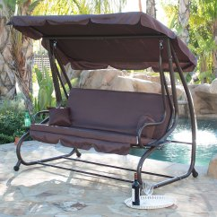 Swing Chair Over Canyon Double Seat Folding Beach Outdoor Bed Patio Adjustable Canopy Deck Porch